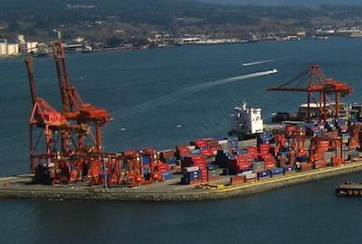 Porto de Vancouver.